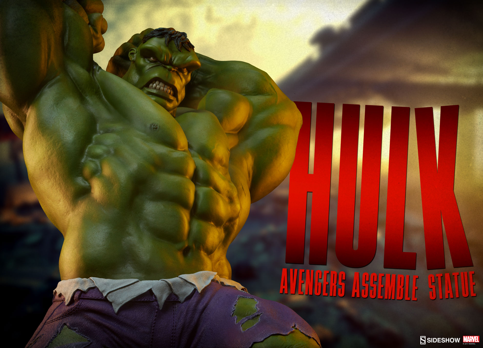 hulk statue avengers assemble sideshow collectibles