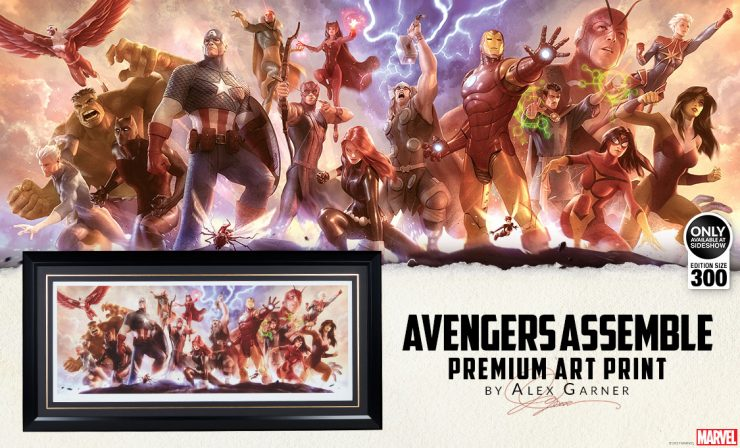 Avengers Assemble Premium Art Print Announcement