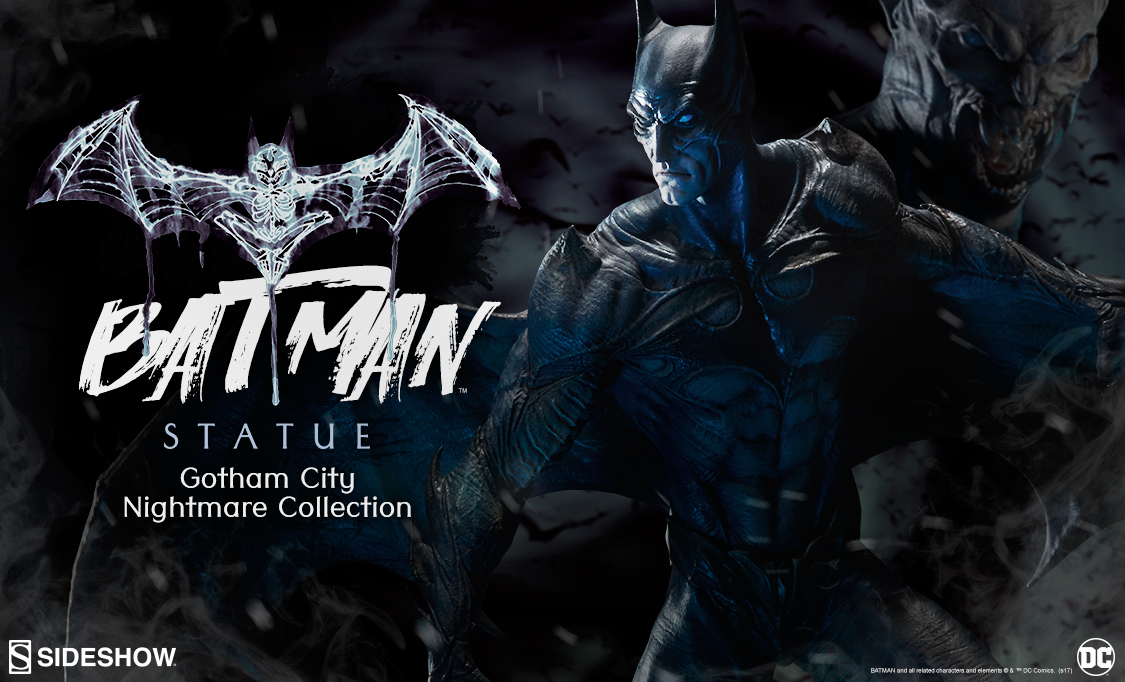 batman statue gotham city nightmare collection sideshow collectibles