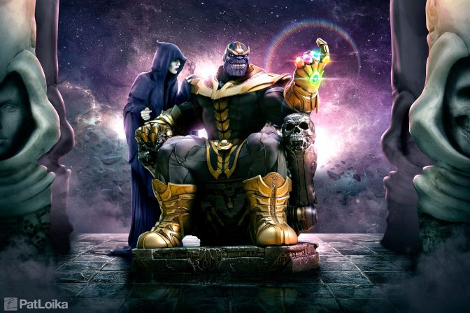 Pat Loika Makes Photographic Magic with the Thanos Maquette