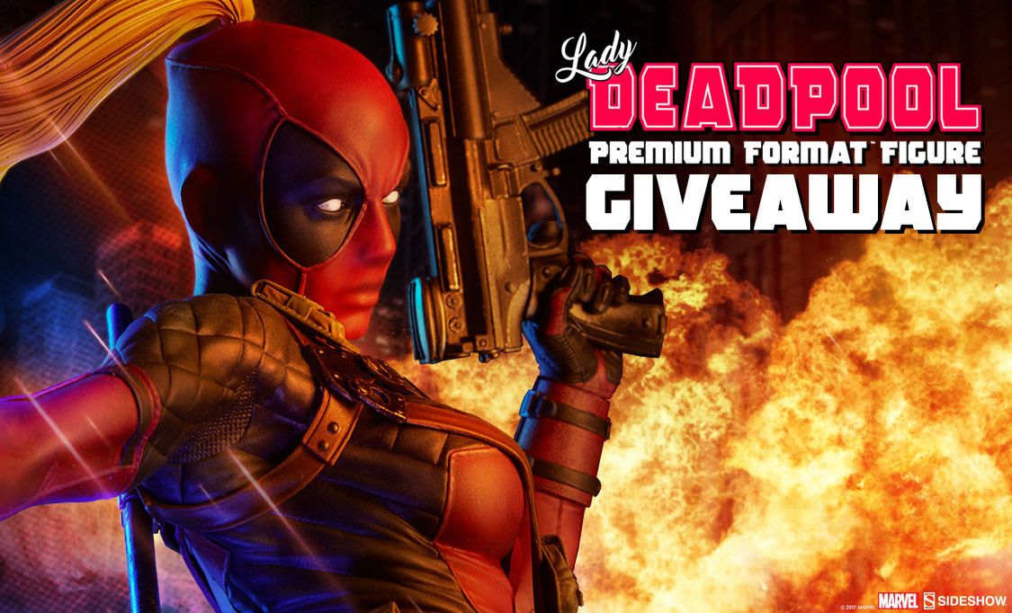 Lady Deadpool Premium Format™ Figure! Giveaway