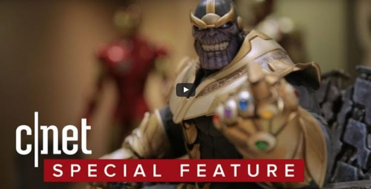 CNET stopped by Sideshow to talk Thanos in time for Comic-Con