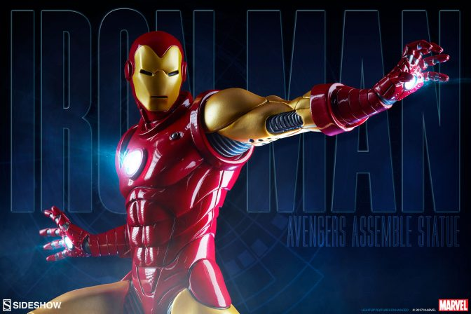 Assembling a Production Gallery Update for the Iron Man Statue