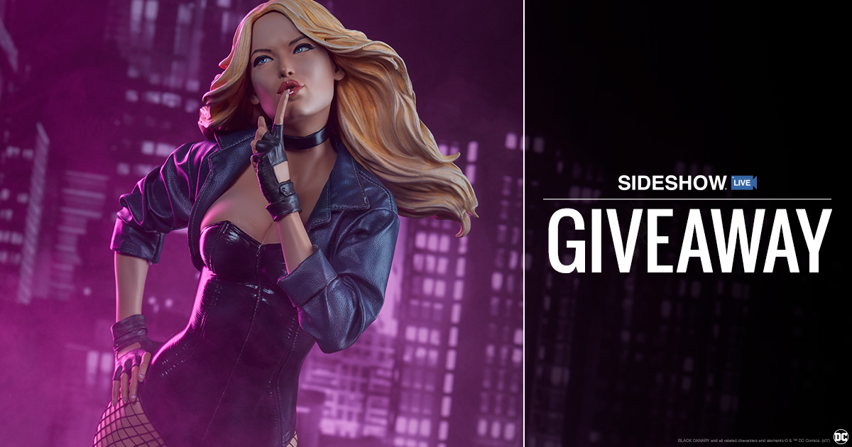 Sideshow Live Black Canary Premium Format Figure Giveaway