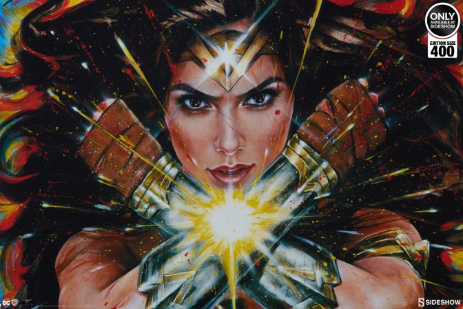 The Wonder Woman: Hell Hath No Fury Art Print by Olivia Stands Strong