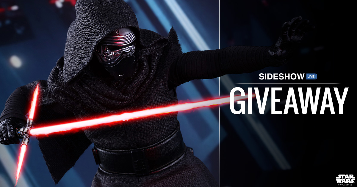 Sideshow Live Hot Toys' Kylo Ren Sixth Scale Figure Giveaway