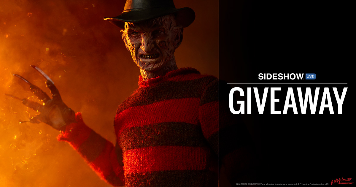 Sideshow Live Freddy Krueger Sixth Scale Figure Giveaway