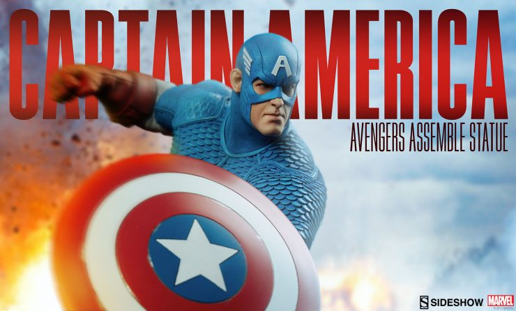 Captain America Statue Assembles with New Production Photos!