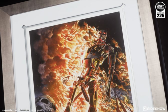 Alex Ross Terminator: The Burning Earth Lithograph