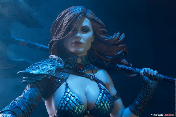 The Red Sonja Premium Format™ Figure has an Axe to Grind!