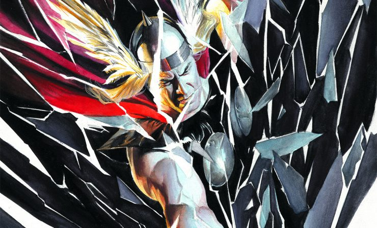 Alex Ross Thor Shattered Fine Art Lithograph