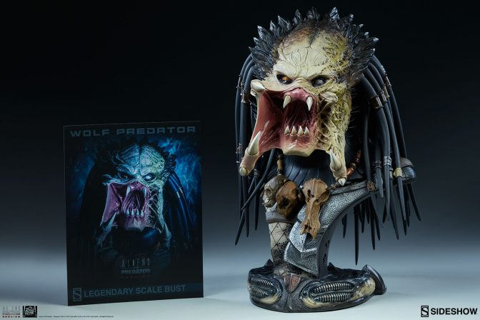Wolf Predator Legendary Scale Bust Production Gallery Updates