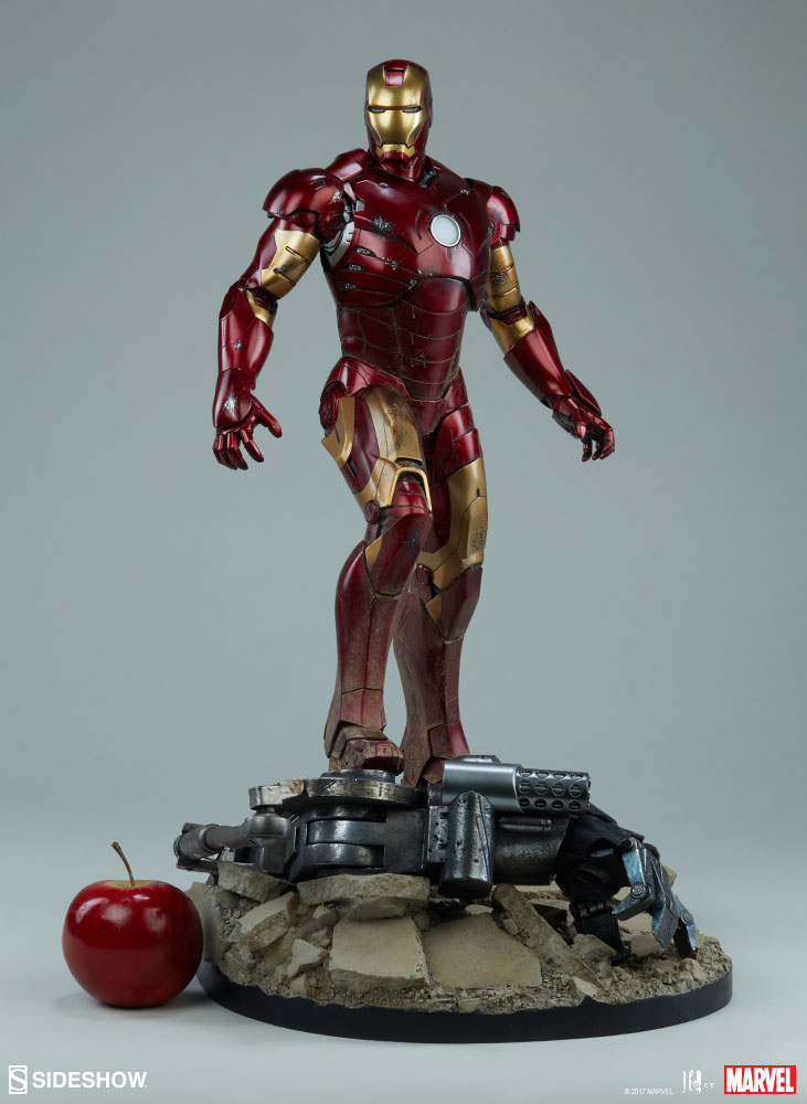 Suit up your collection with the iron man mark iii for Maquette stand
