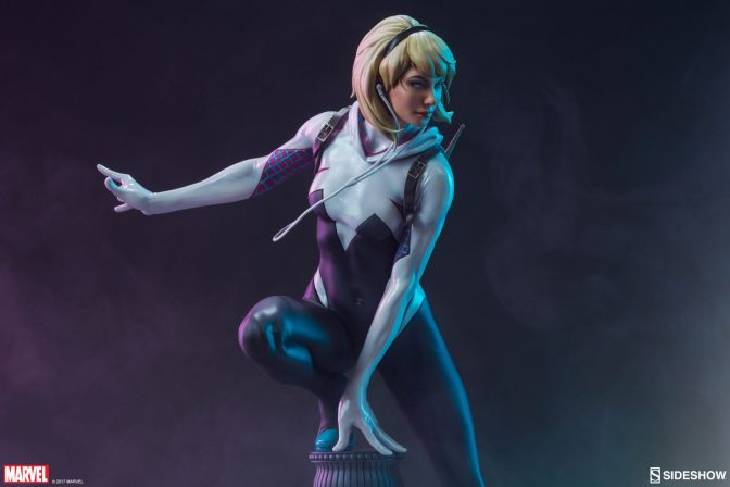 From the Edge of Spider-Verse Comes the Spider-Gwen Statue!
