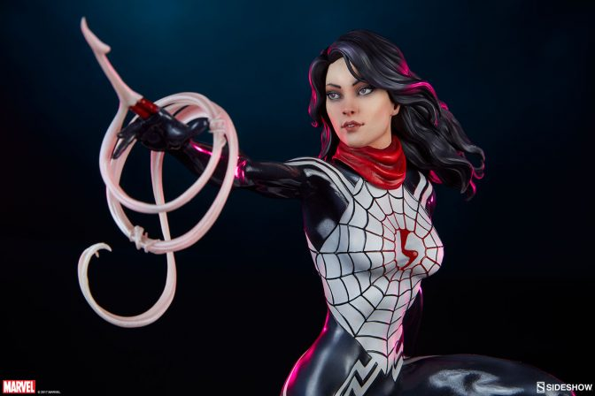 The Silk Statue Swings in from the Spider-Verse