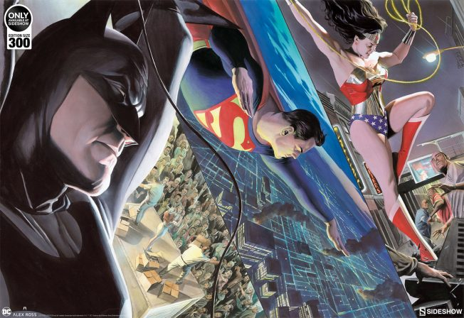 Take Home the Trinity with this Alex Ross Liberty and Justice Lithograph