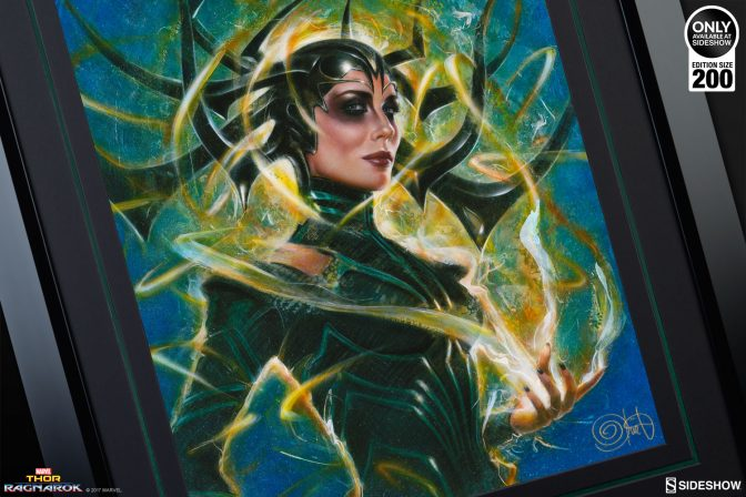 Destruction Comes to Asgard in the Hela: Goddess of Death Fine Art Print