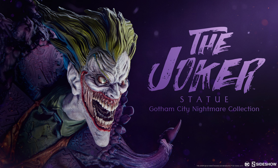 the joker statue gotham city nightmare collection sideshow