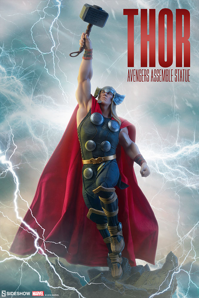 Avengers Assemble New Thor Statue Photos Have Arrived