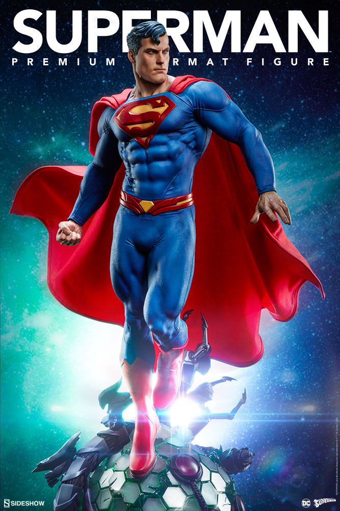 the superman premium format figure soars into your collection