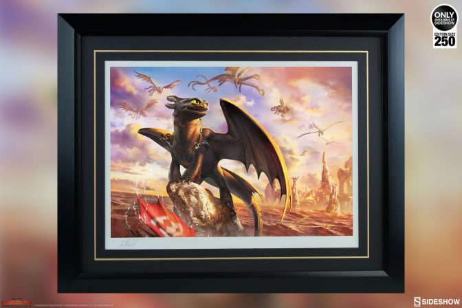 See the Toothless & the Dragons of Berk Premium Art Print Soar into Your Collection!