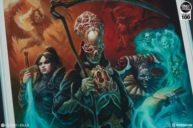 Death Guides The Underworld United in the New Alex Horley Court of the Dead Art Print Collection