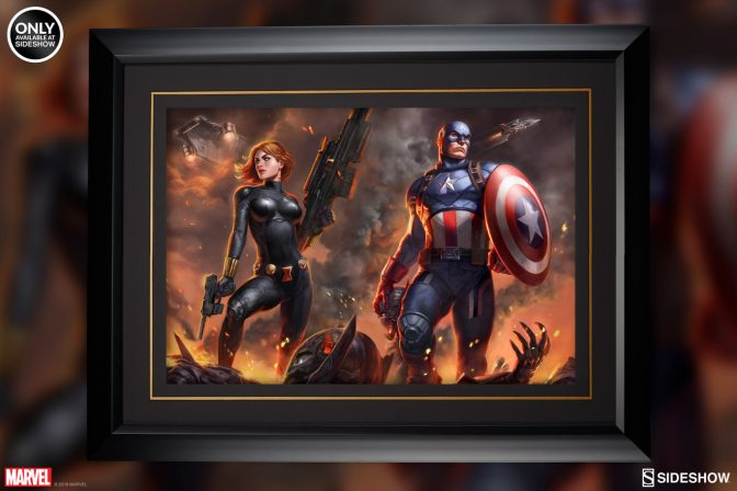 Assemble the Ultimate Team Against Ultron with the Captain America and Black Widow Art Prints!