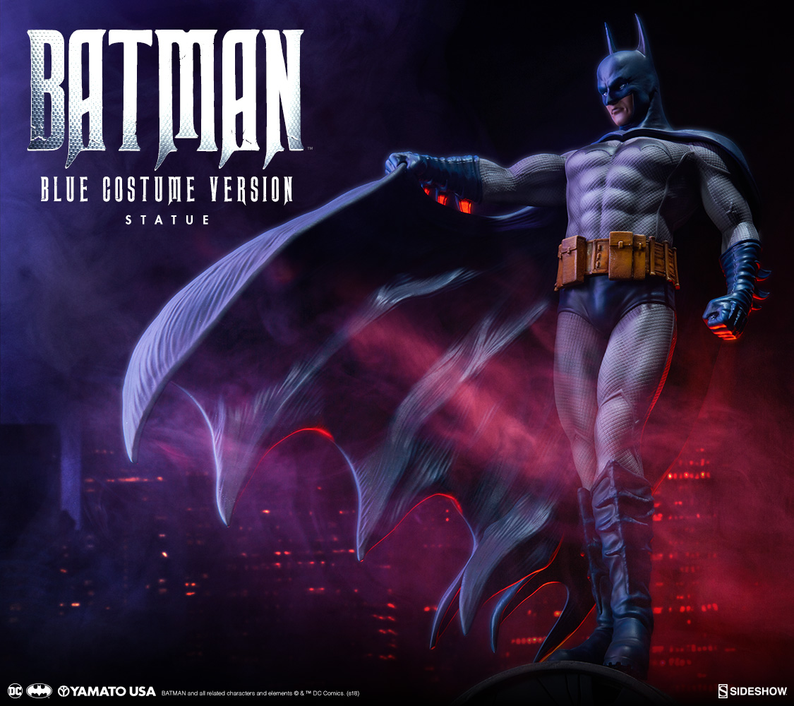 Sideshow is very excited to announce the Yamato USA Batman u2013 Blue Costume Version Statue. This exclusive DC Comics collectible will be available for ...  sc 1 st  Sideshow Collectibles & Batman - Blue Costume Statue | Sideshow Collectibles