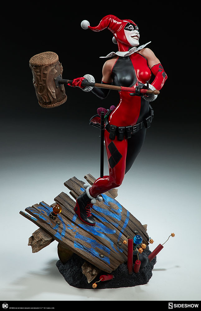 the harley quinn premium format figure brings fun house hijinks sideshow collectibles. Black Bedroom Furniture Sets. Home Design Ideas