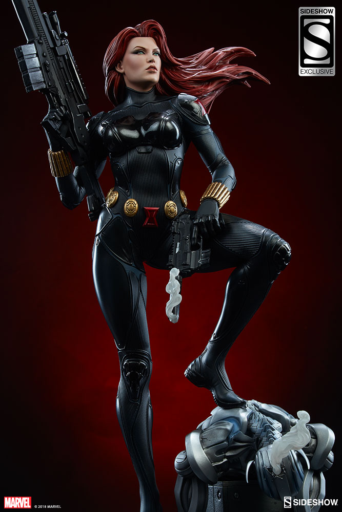 Take Aim At Ultron With The Black Widow Premium Format Figure