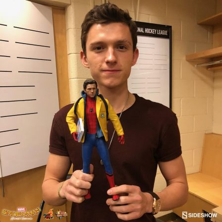 Spider-Man Strikes a Pose with Tom Holland!