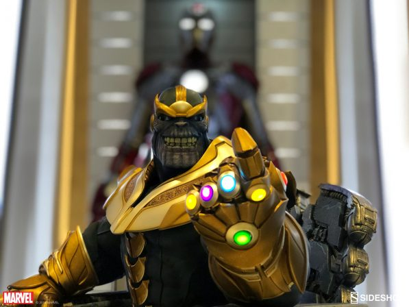 Thanos on Throne Maquette at Marvel Studios