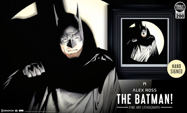 Alex Ross The Batman! Fine Art Lithograph