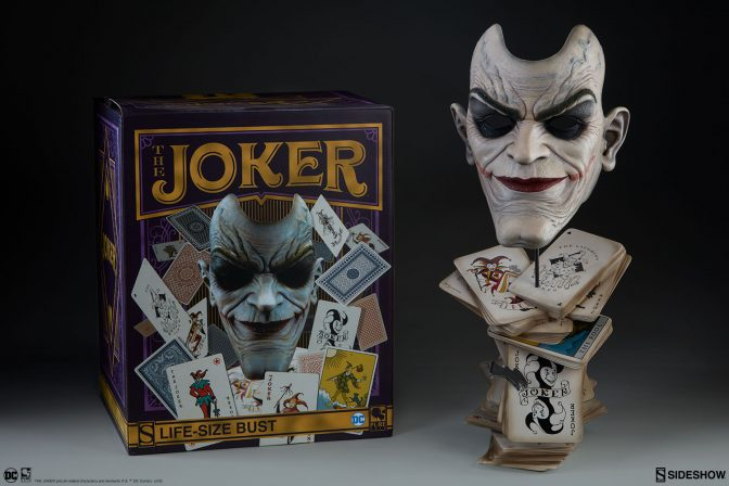 The Joker Face of Insanity Life Size Bust New Photos!