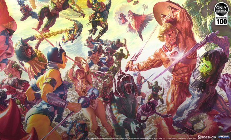 Alex Ross Masters of the Universe Fine Art Lithograph