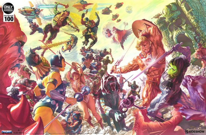Travel to Eternia with the Alex Ross Masters of the Universe Fine Art Lithograph