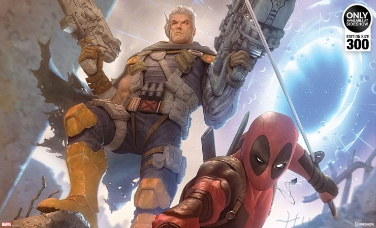Deadpool & Cable Premium Art Print