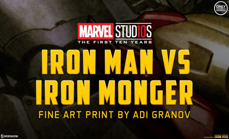 Iron Man vs Iron Monger Fine Art Print