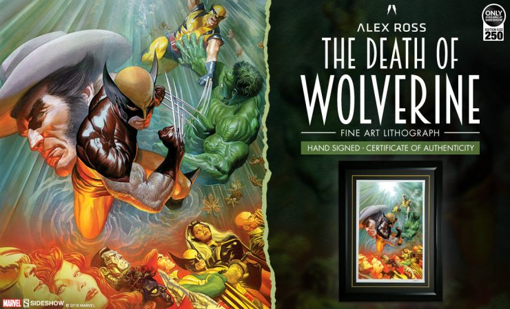 Alex Ross The Death of Wolverine Fine Art Lithograph