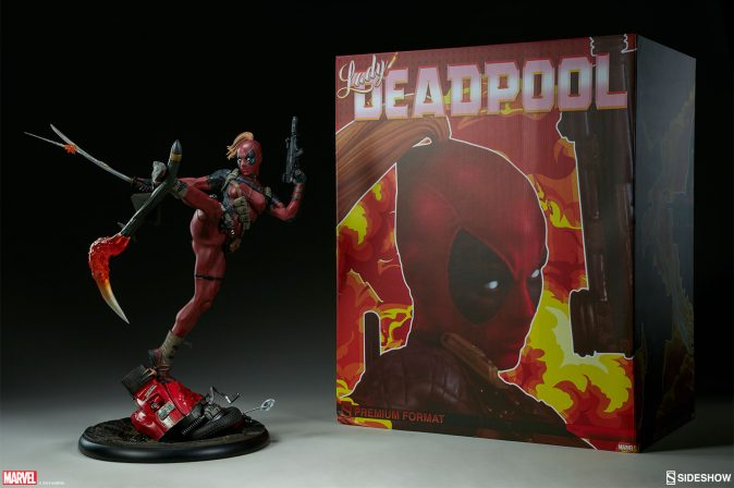 New photos of Lady Deadpool are blasting through Sideshow!