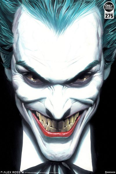 The Joker: Portraits of Villainy Fine Art Lithograph Captures a Seriously Sinister Smile