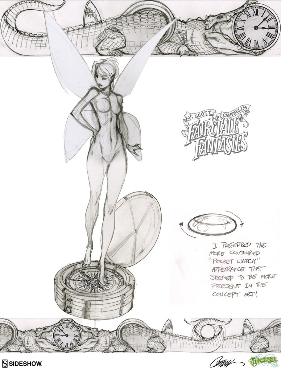 See J. Scott Campbell's Behind the Scenes Sketches for the ...
