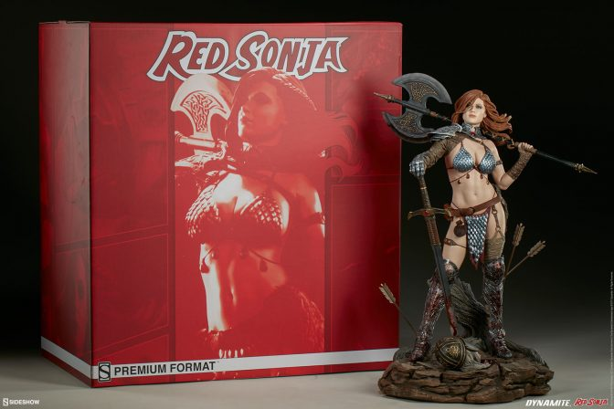 Red Sonja, Queen of Scavengers is ready for battle in these new photos!