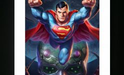 Superman Premium Art Print by artists Alex Pascenko and Ian MacDonald