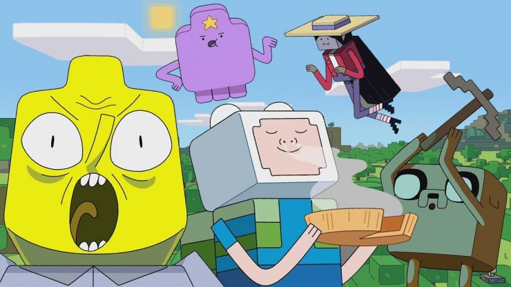 Adventure Time and Minecraft Cross Over in Special Cartoon Network Clip