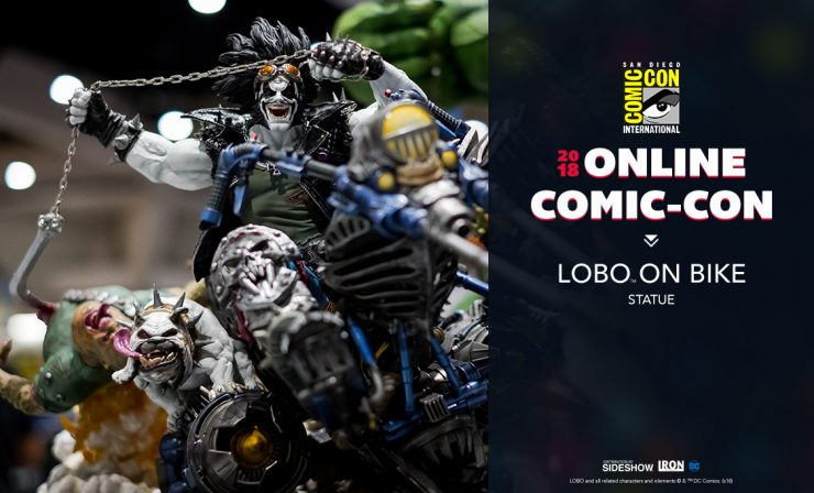Iron Studios Lobo on Bike Statue