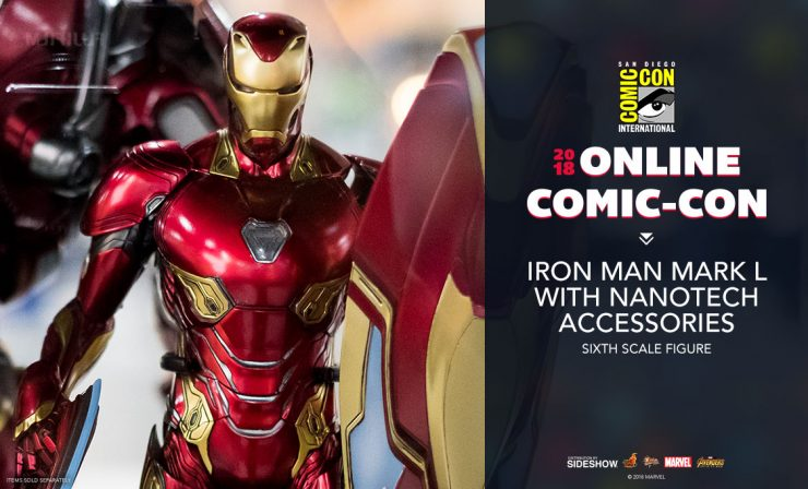Hot Toys Iron Man Mark L with Nanotech Accessories Sixth Scale Figure