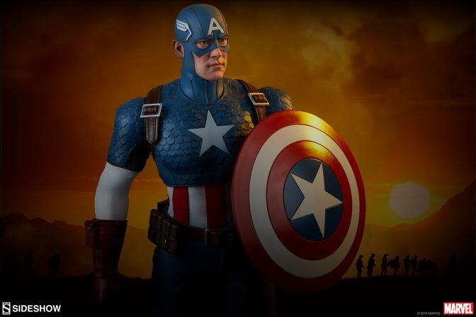 Salute the Star-Spangled Avenger with the Captain America Sixth Scale Figure