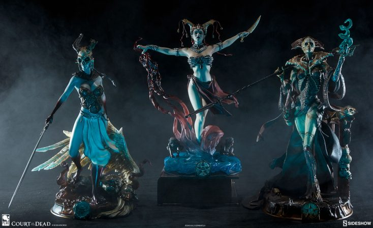 Add to Your Crypt of Court of the Dead Collectibles with the New Faction Leader Figures- Xiall, Kier, and Gethsemoni