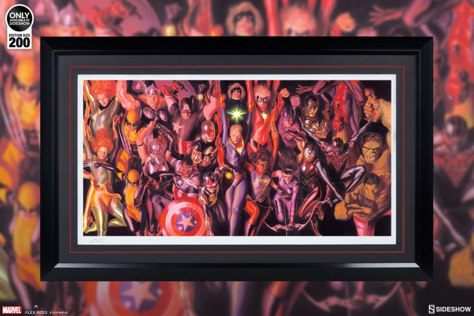Leap into Marvel's Heroic Legacy with the Marvel Generations Fine Art Lithograph by Alex Ross